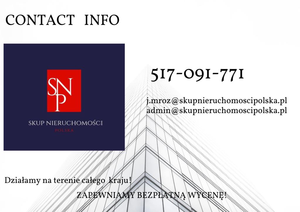 Kontakt skup nieruchomości
